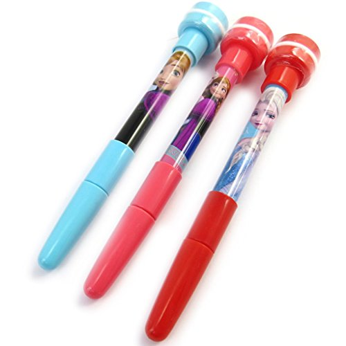 Reine des Neiges [M5982] - 3 multifunction pens 'Frozen - Reine Des Neiges' (+ buffer + pen soap bubble).