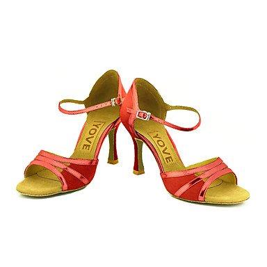 danse Latine Noir Black Personnalisables Jaune Salsa Rouge Daim de Chaussures Personnalisé Talon 5HnqwzxS