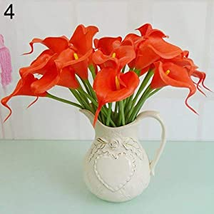 Cambodia - 2016 10pcs Sweet Artificial Latex Calla Lily Flower Bouquet Home Wedding Bridal Decor - Flower Decoration Bouquet Bridal Artificial Dried Flowers Sweet Home Wreath Cambodia C 3