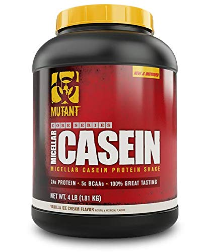 Mutant Micellar Protein Supplement That Helps Build Muscle and Prevent Muscle Breakdown with 24 Grams of Protein Per Scoop, 4 lb - Vanilla Ice Cream