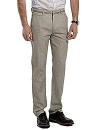 DSDZ Summer Casual Men's Cotton Blends Linen Lightweight Business Pants
