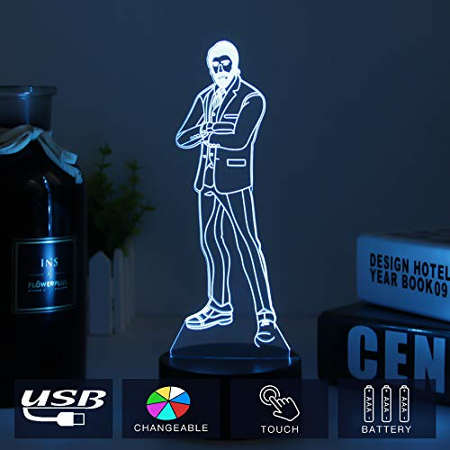 Price comparison product image Fortress Battle Royale LED Lamp with Crack Base Changeable USB Touch Light 3D Visual Bulbing lampen Children's Room Decor Holiday Light