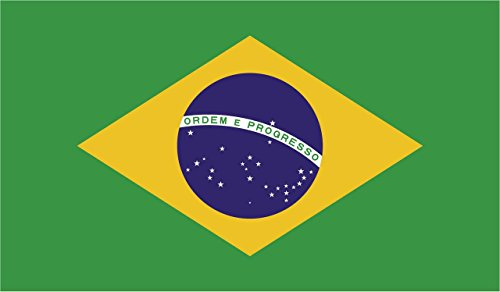 2-Pack Brazil Flag Decal Sticker | 5-Inches By 3-Inches | Premium Quality Vinyl | PD394