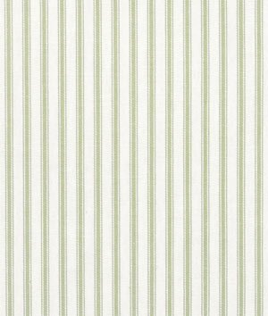 (Covington Fern Green Woven Ticking Fabric - by the Yard)