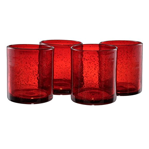 Artland Iris Double Old Fashioned Glasses, Ruby, Set of (Vintage Ruby Glass)