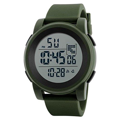 Clearance Men Watch Daoroka Fashion Elegant Luxury Men Analog Digital Military Army Sport LED Waterproof Wrist Watch (Green)