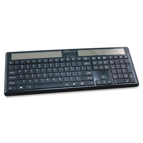 CCS50913 - Compucessory Wireless Solar Keyboard, 16-1/8x6x7/8, Black