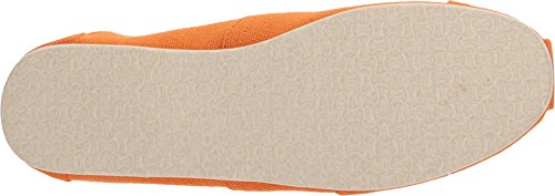 Toms Womens Classic Lino Corda Suola Comoda E Easy-fit Slip-on Russet Arancione Heritage Canvas