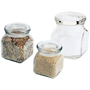 Anchor Hocking Emma Jar with Glass Cover,10-Ounce,Set of 4 85975