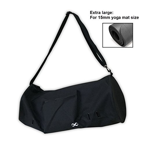 YogaAddict Yoga Mat Bag (Extra Large) 'Compact' with Pocket, Fit 15mm Yoga Mat Size, 29' Long, Easy...