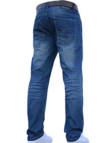 Élégant Toutes Jeans Coupe Droite Ceinture Moyen Standard Tailles Classique Hommes Avec Délavé Crosshatch xwq14WXRWH
