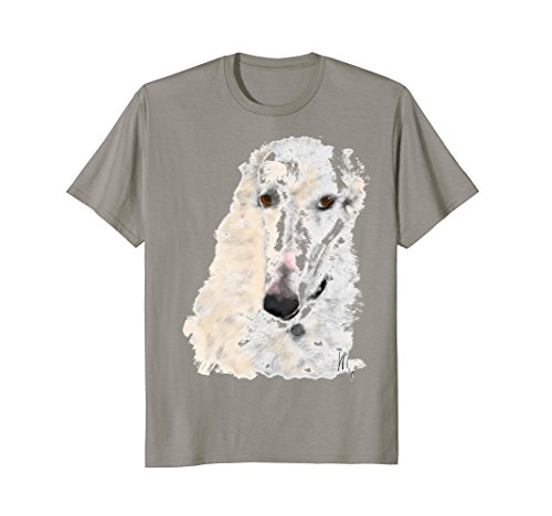 Gentle quiet independent borzoi Russian Wolfhound dog lover