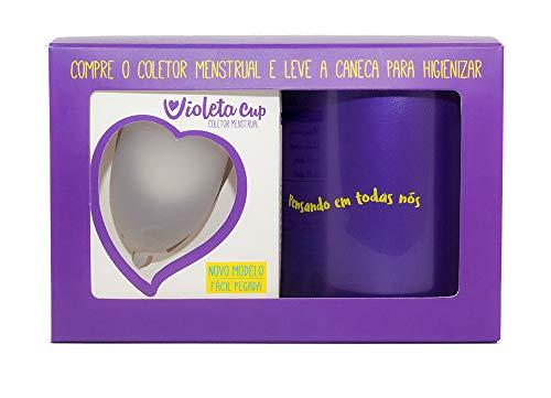 Menstrual Violeta Transparente Higienizadora Cup
