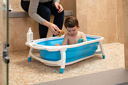 Collapsible Baby Bath Tub for Newborn Infant Child   Hypoallergenic Non-Slip Surface and Legs for Kids Safety   Bathing Made Easy and Portable by Foldable Technology