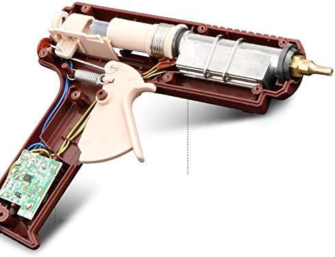 Minmin 30の接着剤が付いているホットメルトの接着剤銃50/60 / 150W急速加熱のための工業用グレードの電気ホットメルトの接着剤銃、DIYの美術工芸品の装飾、宝石類、木工品、日常のメンテナンスに適して(ブラウン) ミニ (Color : B)