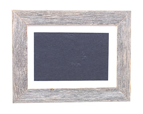 BarnwoodUSA Farmhouse Standard Picture Frame With White Mat (4×6)