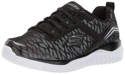 Skechers Kids Boys' Turboshift Sneaker,Black/Silver,3.5 Medium US Big Kid