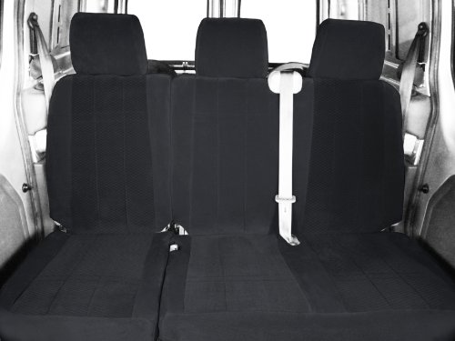CalTrend Rear Row 60/40 Split Bench Custom Fit Seat Cover for Select Toyota Sienna Models - O.E. Velour (Charcoal Monarch Insert with Classic Trim)