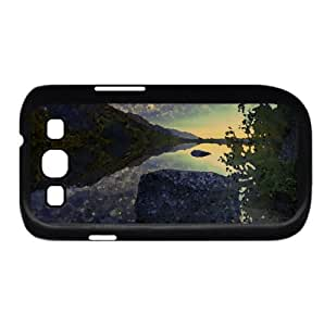 Beautiful Lake Sunrise Watercolor style Cover Samsung Galaxy S3 I9300 Case (Lakes Watercolor style Cover Samsung Galaxy S3 I9300 Case)