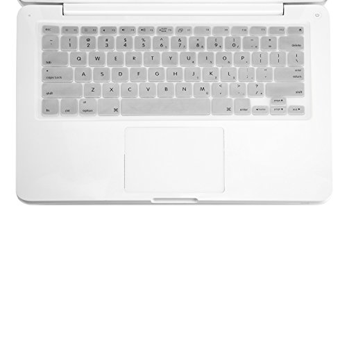 TOP CASE SILVER Keyboard Silicone Skin Cover Compatible with Apple MacBook 13 13.3 (1st Generation / A1181) with TOP CASE Mouse Pad