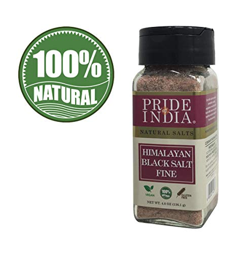 Pride Of India - Himalayan Black Rock Salt - Fine Grind, (4.8 oz) - Kala Namak, Contains 84+ Minerals, Perfect for Cooking, Tofu Scramble - BUY 1 GET 1 FREE (MIX AND MATCH - PROMO APPLIES AT CHECKOUT)