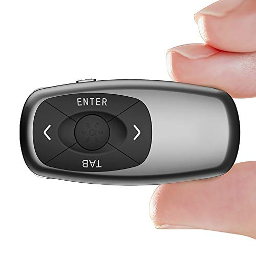 YHML for Demonstration Remote Mini Powerpint Clicker Red Laser Pointer USB Rechargeable RF 2.4 Ghz Wireless Presenter Slide Advancer Hyperlink for Mac/Keynote/PC/PPT