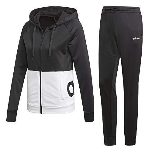 Capuche Noir noir Survêtement Adidas blanc Femme À YOIwEnnvP