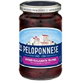 Peloponnese Mediterranean Specialties Gourmet Black Olives, Pitted Kalamata , 11.1 oz