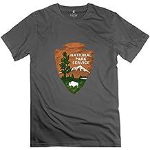 LXQL1 Men's US National Park Service T-Shirt DeepHeather US Size XL