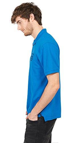 TOM TAILOR für Männer Polo Polo-Shirt mit Schrift-Stickerei deep water blue M