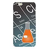 iPhone 6 Plus Case,iPhone 6S Plus Case,SlimProtective Case Fit for Apple iPhone 6 Plus/6S Plus5.5 inch-Orange Erlenmeyer Conical Flask Chemistry Glossy