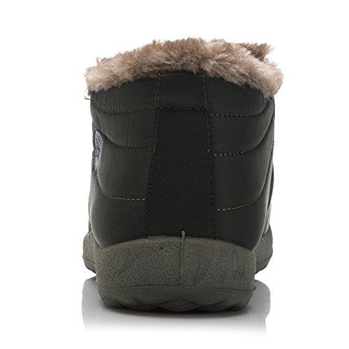 Santimon Snow Boots Donna Uomo Foderato In Pelliccia Impermeabile Inverno Allaperto Slip On Boots Stivaletti Da Neve Stivaletti Antiscivolo Scarpe Leggere Verde (uomo)