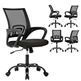 Ergonomic Office Chair Cheap Desk Chair Mesh Computer Chair Back Support Modern Executive Adjustable Arms Rolling Swivel Chair for Women, Men (5)