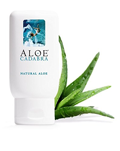 Aloe Cadabra Organic Natural Personal Lube, Best Edible Lubricant for Sex with Aloe Vera Gel, Unscented, 2.5 Ounce