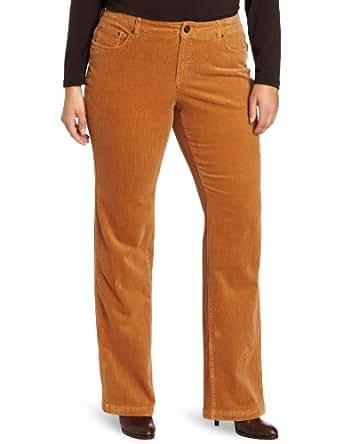Jones New York Women's Plus-Size Lean Bootcut Pant, Tobacco Brown, 14W