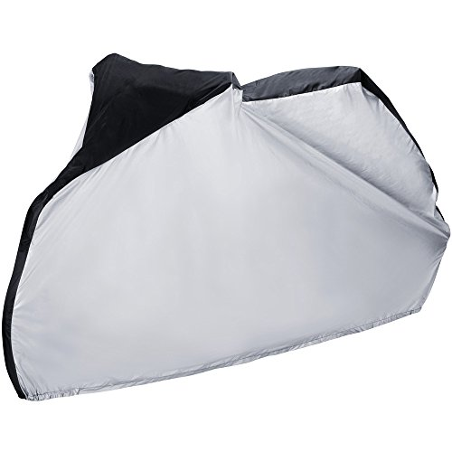 Bicycle (Zacro Waterproof Bike Cover, 190T Nylon Extra Heavy Duty Outdoor Bicycle Cover for Road, Mountain Bike,)