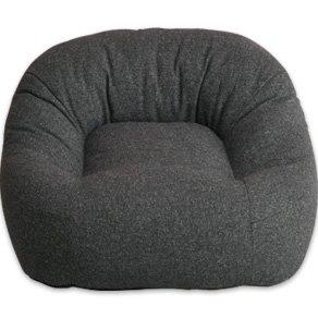 エムール 日本製 あぐらがしやすい座椅子 iruneruTOKYO 『マフィー』 ブラック B00JZCW1BA  ブラック