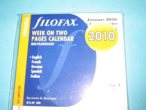 Filofax, Personal, Week To View, 4 Language, 2010