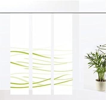 gardinen-for-life Flächenvorhang Waves Green - 3er - Serie ...