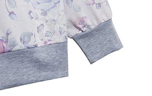 YICHUN mujeres niñas 'Tops camisetas Pullovers Thin jerséis Sudaderas Flower 3#