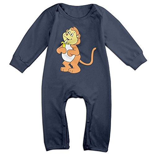 Sock Monkey Plus Size Adult Unisex Costumes (Baby Infant Romper Monkey Banana Long Sleeve Jumpsuit Costume Navy 18 Months)