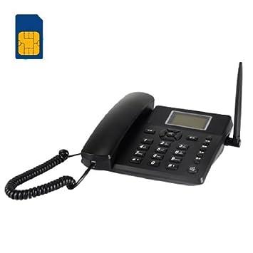 DracoTek DT933 - Teléfono de escritorio inalámbrico GSM, negro