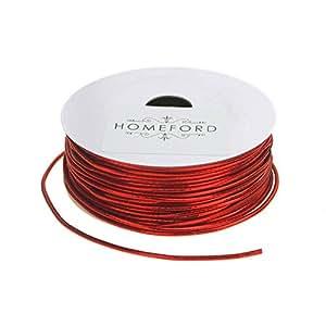 Homeford Stretch Cord Ribbon, 1/16-Inch, 25-Feet (Red)
