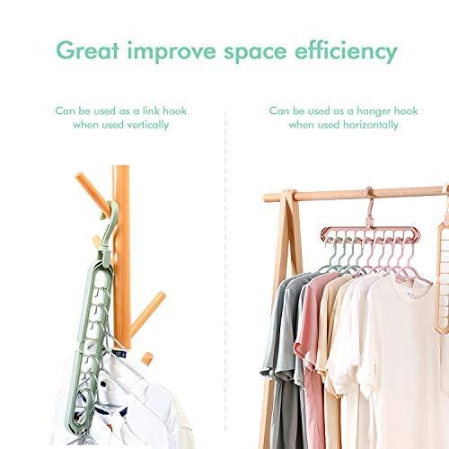 2 Pack Clothes Hangers Space Save Closet Organize Plastic Suit Pants Coat Skirt Gray