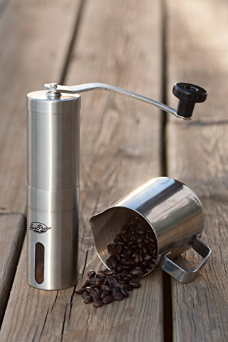 JavaPresse Manual Coffee Grinder, Conical Burr Mill, Brushed Stainless Steel by JavaPresse (Image #6)