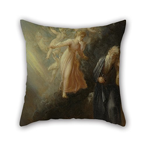 [Uloveme Oil Painting Thomas Stothard - Prospero, Miranda And Ariel, From 'The Tempest,' Act I, Scene Ii Throw Cushion Covers 16 X 16 Inches / 40 By 40 Cm Gift Or Decor For Girls,home,father,play] (The Tempest Prospero Costume)