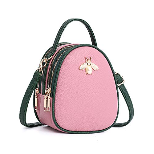 Nafanio Leather Bags Luxury Women Shoulder Pink Handbag For Crossbody 7xrqARH7