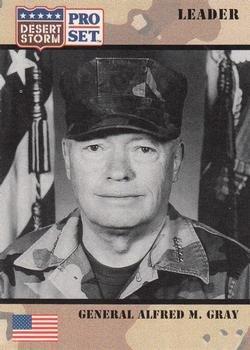 - General Alfred M. Gray trading card (Desert Storm) 1991 Pro Set #82 Commander U.S. Marine Corps