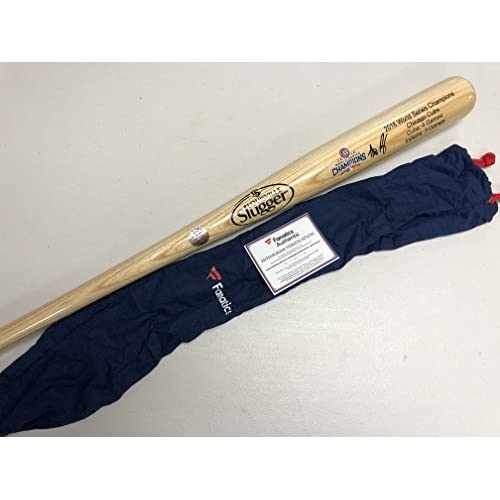 2fe9d658 Anthony Rizzo Autographed Signed Chicago Cubs Blonde Rare WORLD SERIES  Limited Edition Baseball Bat Fanatics Authentic