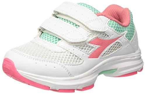 Diadora Shape 9 Jr V, Zapatillas de Running Para Niños Blanco (Bianco Rosa Lady)